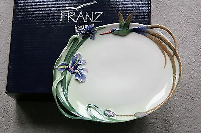 Franz Porcelain Cream Jug And Tray From The Hummingbird Collection New