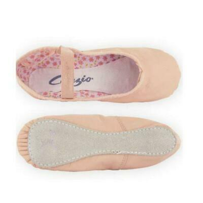Capezio Pink Leather Daisy Ballet Shoes - Full Sole 205 Narrow Fit