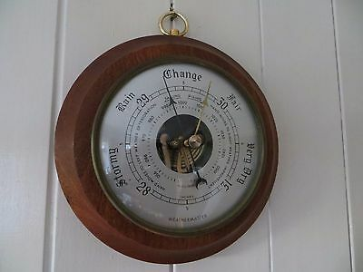 Large Round Shape Weathermaster Weather Station Barometer