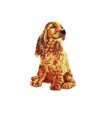 Cocker Spaniel - Dog - Pet - Fully embroidered Iron On Applique Patch