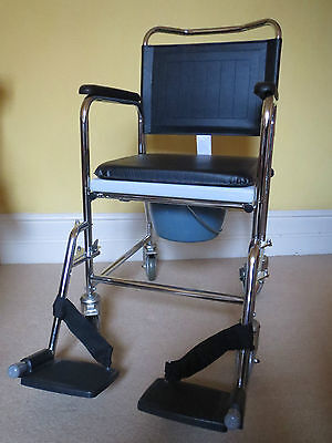 Ultimate Healthcare Glideabout Wheeled Commode Chair Max Weight Limit 30st
