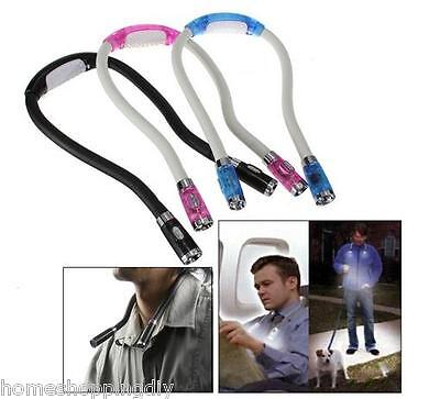 SP Adjustable Flexible 4 LED Neck Book Night Hug light Lamp Torch for Study Read