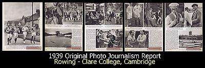 1939,Original,Photo Journalism,Clare College Cambridge,Rowing,Henley Regatta