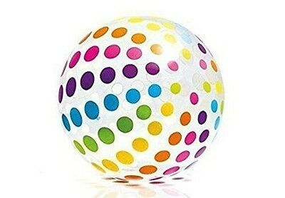 "Intex  Jumbo Inflatable 42"" Beach ball with Translucent Dots (59065)"