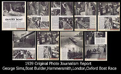 1939,Original,George Sims,Boat Builder,Hammersmith,London,Oxford Boat Race Boat