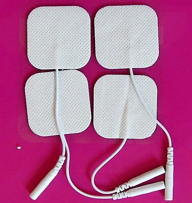 Tens Machine Electrode pads- Reusable self-adhesive 5x5cm Massage Therapy- UK