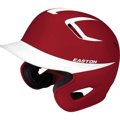 NEW Easton Stealth Grip Two Tone Batting Helmet Small Maroon / White  A168056