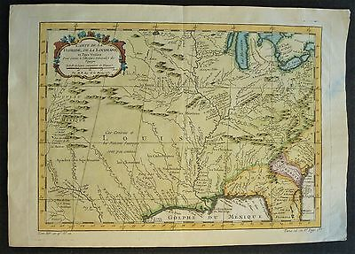 United States / EEUU, map Bellin (1757), Carte de La Floride, De La Louisiane