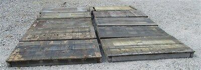 10 Tops Vintage Factory Cart Industrial Age Wood Coffee Table Wheel Railroad c