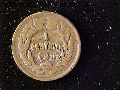 Honduras One Centavo 1903/2/1/0  Fine For Issue, Five Coins Known