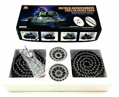 Heng Long Metal Tank Pedrail Tracks and Sprockets Drive Wheels for Tiger Ⅰ 3818