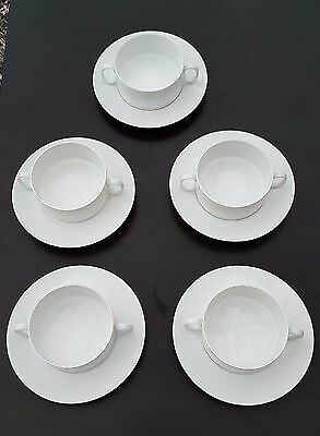 Thomas Germany    5 Soup Bowls & Saucers. All white