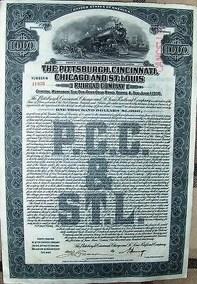 Pittsburgh, Cincinnati, Chicago & St. Louis Railroad Comp $1000 Gold bond, 1920