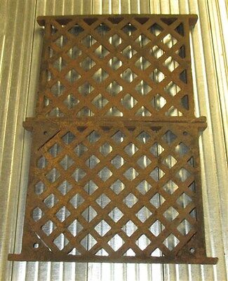 2 Flat Cast Iron Grates Fretwork Vent Covers Air Return Architectural Salvage h