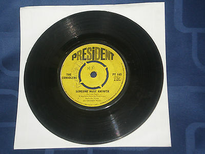 """The Consolers - Someone Must Answer -  1967 President 7"""" Single - Gospel Gem"""