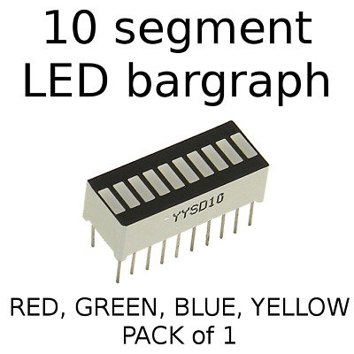 10 Segment Digital LED Bar Graph Display Ultra Bright Red Blue Green Yellow NEW