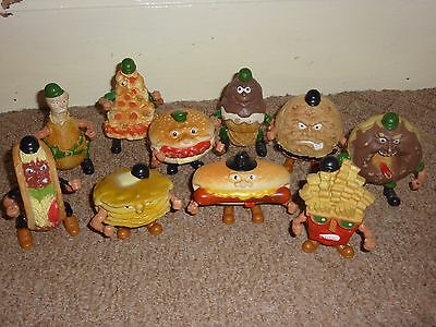 VINTAGE 1980s FOOD FIGHTERS ACTION FIGURES full set of 10