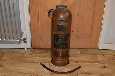 Antique Copper Fire Extinguisher Made By Knight & Thomas Boston Unusual Item