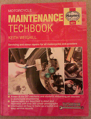 Haynes Motorcycle Maintenance Techbook for Servicing Repairs by Keith Weighill