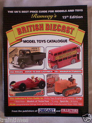 Book:RAMSAY'S BRITISH DIECAST MODEL TOYS CATALOGUE - 15th Edition 2015 NEW