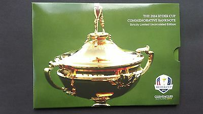 2014 Ryder Cup Limited Edition £5 Commemorative Note