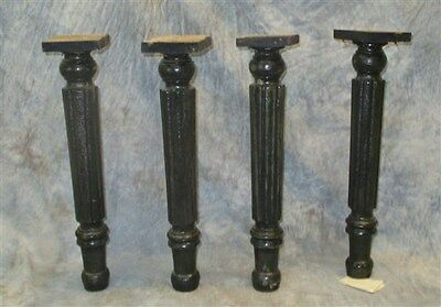 Lot 4 Wooden Table Legs Porch Post Legs Support Chair Cabinet Dresser Vintage a