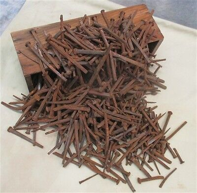 Over 12 Lbs Assorted Square Nails Vintage Furniture Cabinet Construction c
