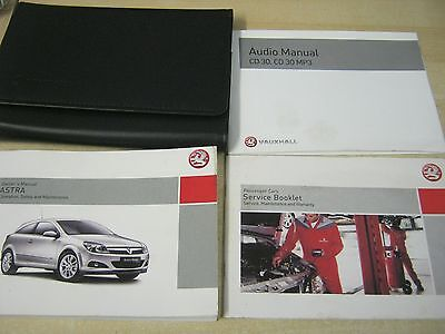 Vauxhall Astra Owners Manual Handbook  2004-2010 Wallet And Service Book