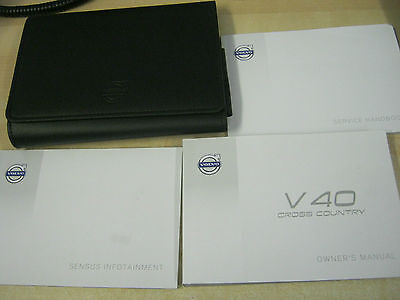 Volvo V40 Cross Country Handbook Owners Manual Wallet 2013-2016 Service Book