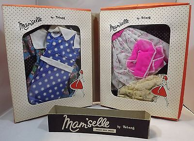 """VINTAGE 1950s MAM'SELLE BY TRI-ANG 20"""" TEENAGE DOLL CLOTHES ORIGINAL FOLDING BOX"""