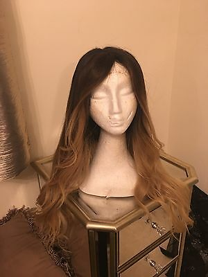 Human Hair full lace wig Ombré  22inch