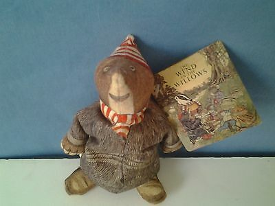 """VINTAGE 1980 7"""" Mr. Mole Plush From The Wind In The Willows Made By The Toy Work"""