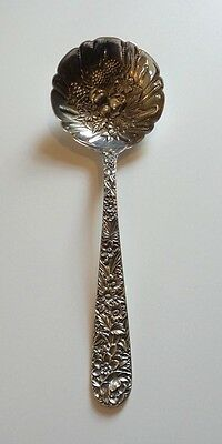 S. Kirk & Son REPOUSSE Sterling Silver Berry Spoon, 122 grams, No Monogram