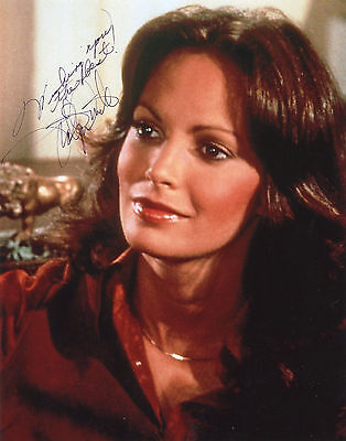 Jaclyn SMITH CHARLIE'S ANGELS AUTOGRAPHE PHOTO SEXY 20x25 SIGNEE signiert signed