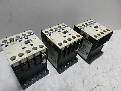 TELEMECANIQUE CONTROL RELAYS Qty of 3 - CA4-KN31BW3 - 24DC Coil 3 x N/O 1 x N/C