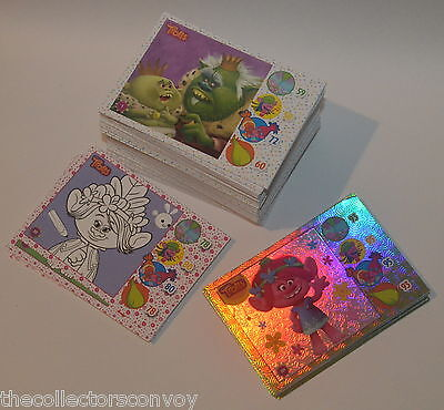 Topps DreamWorks TROLLS Movie Trading card = Base SET + Subsets (156 cards)