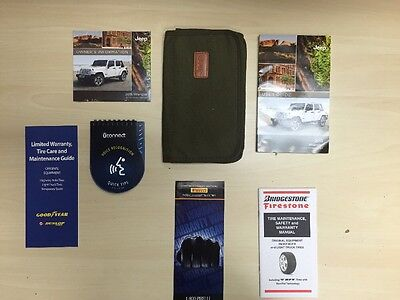 Jeep Wrangler 2015 Owners Manual Book  + Case + Free Shipping/ DVD