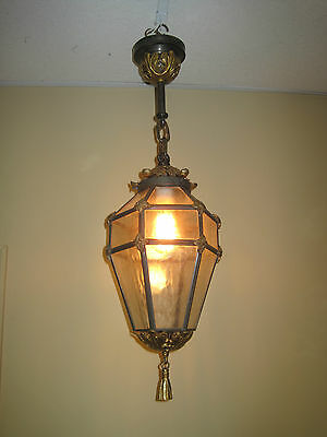 Antique French Rococo Porch light, Hanging Light Fixture