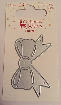 Dovecraft Cutting Dies Christmas Basics Bow 1 Die New/Sealed