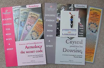 LEO - Handmade birthstone pendulum for Dowsing + 2 great books & a bookmark