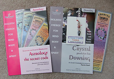 TAURUS- Handmade birthstone pendulum for Dowsing + 2 great books & a bookmark