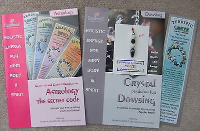 CANCER - Handmade birthstone pendulum for Dowsing + 2 great books & a bookmark