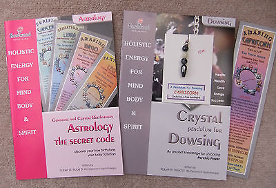 CAPRICORN - Handmade birthstone dowsing pendulum + 2 great books & a bookmark