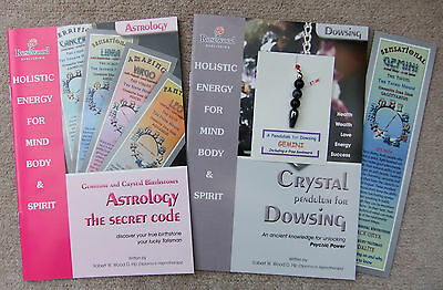 GEMINI - Handmade birthstone pendulum for Dowsing + 2 great books & a bookmark