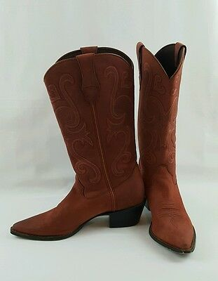 Women's Durango RD3595 Crush Jealousy Suede Red / Pink Cowgirl Western Boots 7 M