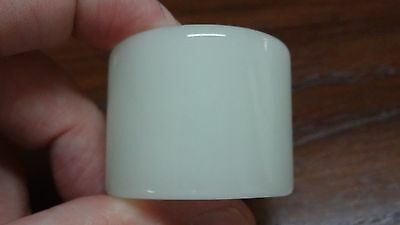Translucent Hetian Xinjiang Jade - Archer Ring - Size 13 or 22mm - Mutton Fat