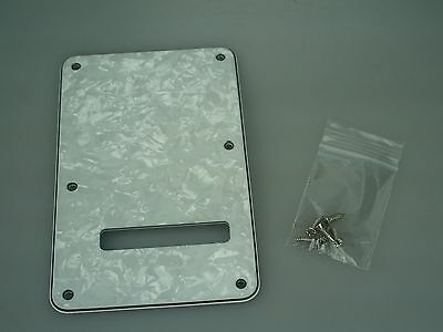 Fender Squier Vintage Modified Strat TREMOLO COVER Back Plate Pearloid 5902