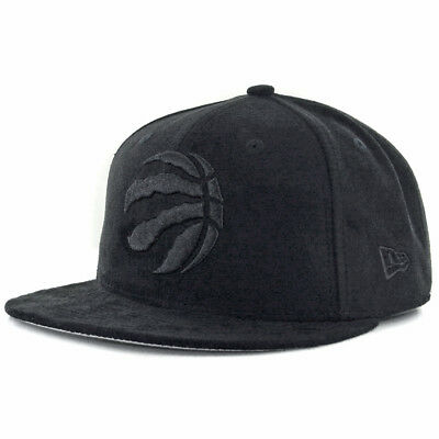 "New Era 59Fifty ""Solid Suede"" Toronto Raptors Fitted Hat (Black) Men's NBA Cap"