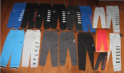 Nike Air Jordan Boys Athletic Jogger Fleece Pants  Size S/m/l/xl Nwt Msrp$50-$55