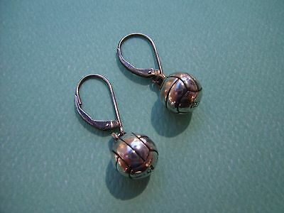 James Avery VOLLEY BALL Earrings Leverback Sterling Silver